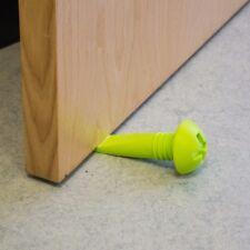 2x NOVELTY RUBBER DOOR STOPS Large Screw Shaped Wedge Holder/Jammer/Blocker