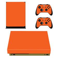 XBOX One X Konsole Designfolie Skin Schutzfolie Folie Sticker Design Orange