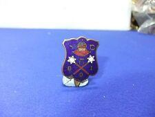 vtg badge kings crown on cushion latin  vt e gio ? crossed star batons