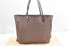 Authentic Louis Vuitton Damier Neverfull MM Tote Bag N51105 LV 54739
