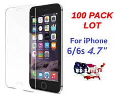 """100x Wholesale Lot Tempered Glass Screen Protector for Apple iPhone 6 6s 4.7"""""""