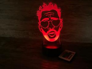 Reggaeton Benito 3D LED Laser Engraved Lamp, Perreo sola, Desk Lamp, Free Ship