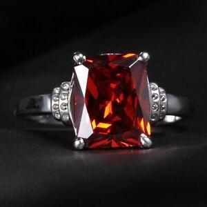 Handmade Natural 5.10ct Ruby  Size US 7 14K White Gold Ring CM115