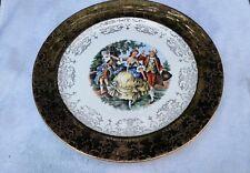 "Crest O Gold Sabin SAB1 Plates 9¼"" Luncheon Warranted 22K GOLD Made In USA"