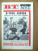 1967 Football Programme-B 1903 v KOGE, 8 May@Idrætsparken/Parken Stadium,Denmark