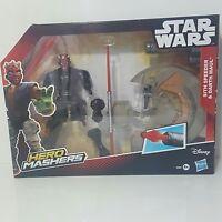 Disney Hasbro STAR WARS Hero Mashers SITH SPEEDER and DARTH MAUL - BRAND NEW toy