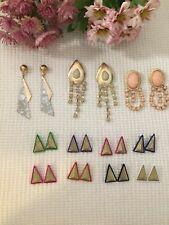 LOT OF 10 Women Fashion Drop Earrings Studs Hooks Jewelry Dangle  Accessories