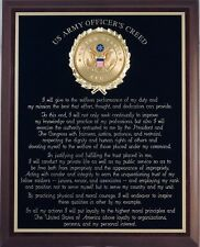 US ARMY OFFICER GIFT OR AWARD - ARMY COMMISSIONED OFFICER'S CREED WALL PLAQUE
