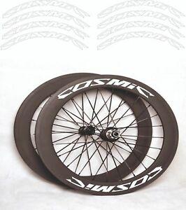 """mavic COSMIC Ultimate T Kit adesivi cerchi 28/"""" bdc sfondo nero altezza 21mm"""