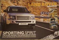 Land Rover Monthly Sporting Spirit Range Rover Sport Launch 2004 2005 Supplement