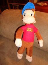 "Monkey Curious George Ball Player 10"" Holding Baseball Stuffed Plush cap hat"