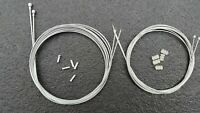 ful set of Road Racing Bike Brake & Gear cables Galvanised Steel Crimp #20