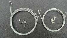 ful set of Road Racing Bike Brake & Gear cables Galvanised Steel Crimp #20