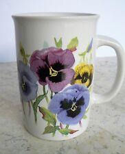 "Valerie Pfeiffer Mug ""PANSIES""  Coffee Tea Floral Capilano"