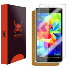 Skinomi Gold Carbon Fiber Skin & Screen Protector for Archos 50d Helium 4G
