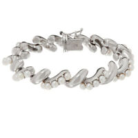 """Honora Cultured Pearl Sterling Silver San Marco 7-1/2"""" Bracelet QVC $269"""