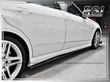 2011-2014 Mercedes-Benz W212 E63 AMG RZ STYLE Carbon Fiber Side Skirt Add On Lip