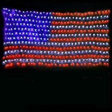 American Us Flag 420 Led String Light Decorative Hanging Usa July 4, Christmas