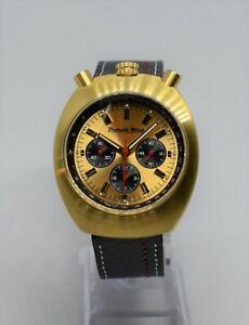 Detroit Mint Mach Bullhead Chronograph Citizen Quartz 40mm Brushed Gold Panda