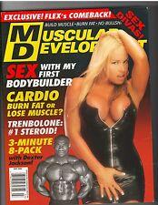 MUSCULAR DEVELOPMENT Bodybuilding Magazine Bobbi Billard w/poster 7-02