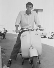 "Anthony Perkins Vespa Scooters Mods 10"" x 8"" Photograph"