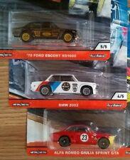 '70 FORD ESCORT RS1600,  BMW 2002, ALFA ROMEO GIULIA SPRINT GTA, LOT CAR CULTURE