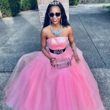 New Couture princess of Edemani classy pink tulle Formal ball gown Dress XS 0-2