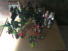 Lego Exo-Force 8114 Chameleon Hunter 8111 River Dragon 7713 Bridge Walker White