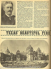 Ft Worth Texas Spring Palace Beautiful Fire Trap+Capt Paddock*,Swartz,Blalock