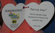 TY PATRICK STAR BEANIE BABY - (BEST DAY EVERY) BEST BUY EXCLUSIVE - MINT TAGS
