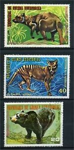 LOT DE TIMBRES NEUFS /OBLITERES ANIMAUX SAUVAGES - GUINEE