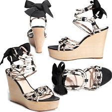 $398 Elie Tahari Espadrille Slide Wedge Sandal  Shoe 37 / 7