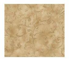 Fresco Scroll Golden Sheen Wallpaper Ln7584