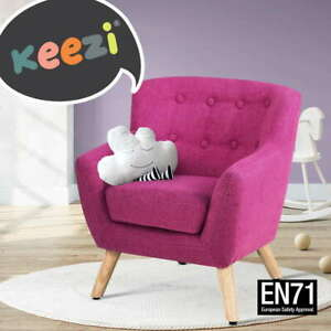 Keezi Kids Sofa Armchair Pink Linen Lounge Nordic French Couch Children Room