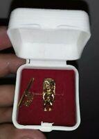 DISNEYLAND RARE VINTAGE ENCHANTED TIKI ROOM GOLD TIE PIN GIFT SHOP JEWELRY
