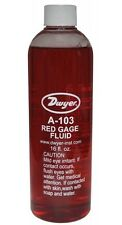 Dwyer A-103 Red Gauge Fluid (1pt) with .826 sp.gr. Use with Inclined Manometers