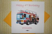 Handmade Personalised Lego City Birthday Card Son Grandson Any Age 2 3 4 5 6 7 8