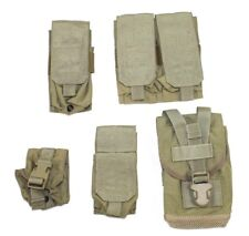Eagle Allied Industries Khaki SFLCS Tan Buckle Mag Canteen Frag Smoke Pouch Lot