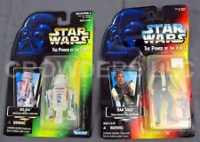 Star Wars Power of the Force Red Card Han Solo & Green Card R5D4 Kenner '95 NIP