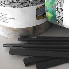25 Klemmschienen Schwarz für die Montage von Zaun Sichtschutzstreifen