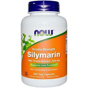 Now Foods Silymarin Double Strength Milk Thistle Dandelion 300mg 200Caps 05/22EX
