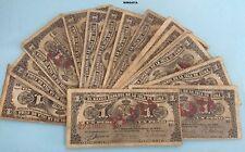 ESPAÑA COLONIAL. 1 BILLETE de 1 Peso Alfonso XIII año 1896 Banco Español PLATA.
