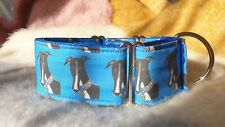 Comedy George Design.Jane Wren Artwork. 50mm Martingale Collar. Greyhound