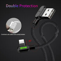 MCDODO 90 Degree USB Fast Charging Cable For iPhone Apple XR X 8 7 6S 6 Plus