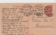 Old Estonia Postcard Open Letter Year 1923 Tartu-Rakvere