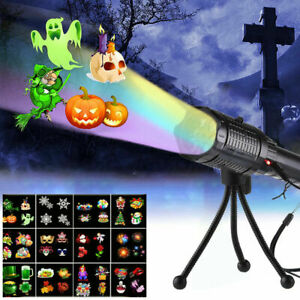 LED Moving Laser Lights Halloween Window Projector Outdoor Xmas Home Party Lamps