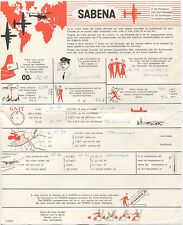 SABENA 1965 FLIGHT BULLETIN REPORT CONVAIR 440 12 METROPOLITAN OO-SCM