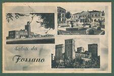Piemonte. FOSSANO, Cuneo. Cartolina d'epoca viaggiata nel 1949.