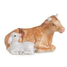"New Fitz & Floyd Nativity ""Oxen & Lamb"" Figurine 19-208"