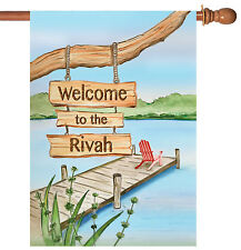 Toland Welcome to the Rivah 28 x 40 Funny Summer River Relax House Flag